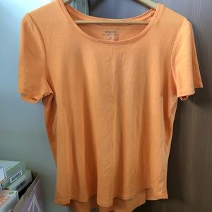Chico's the ultimate tee in orange